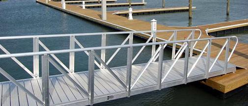 Aluminum structure yacht dock