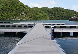 出口国外铝合金游艇码头