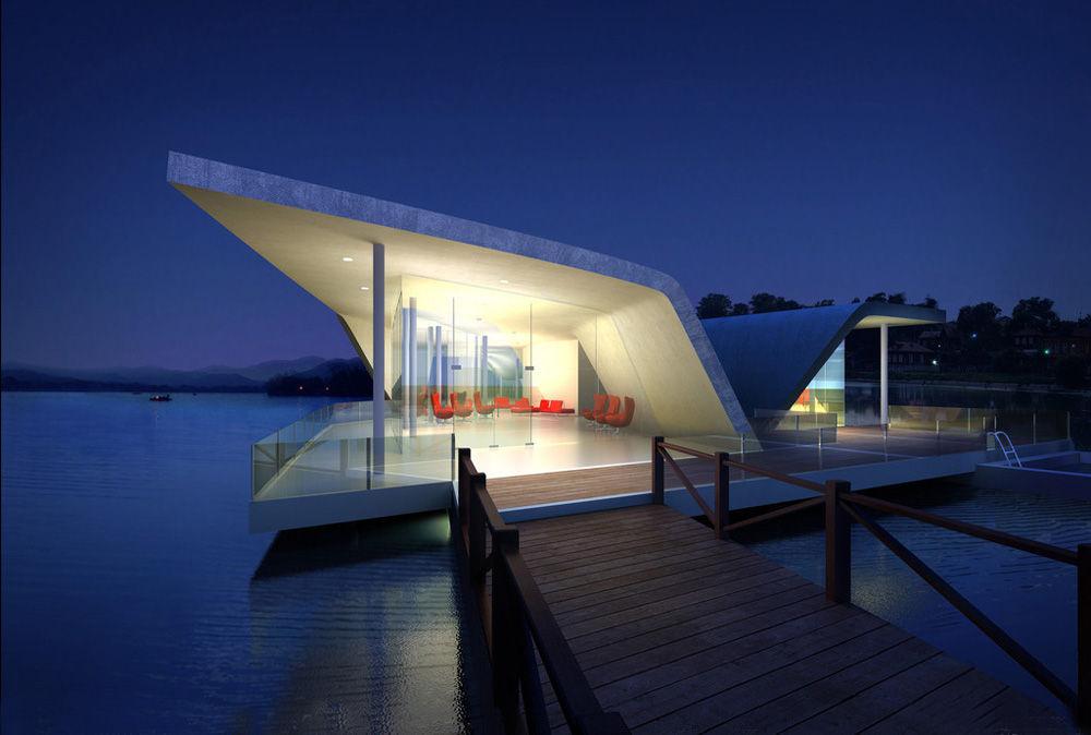 最新颖和最具档次的水上房屋